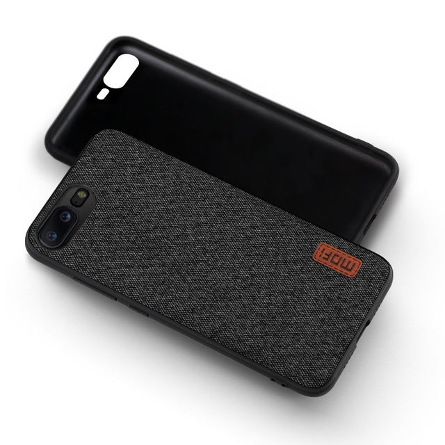 MOFi Oneplus 5 Shockproof Silicone Fabric Case Business Style