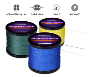 1000m Braided Fishing Line 10 12 15 20 25 30 40 50 65 80LB PE KastKing