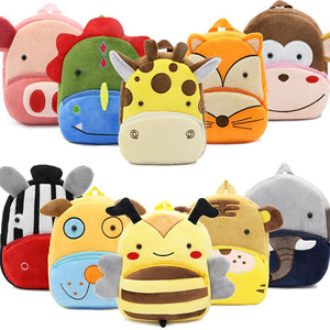 3D Cartoon Plush Children Backpack kindergarten Schoolbag