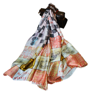 Fashion Luxury Rayon Silky Scarf Shawl