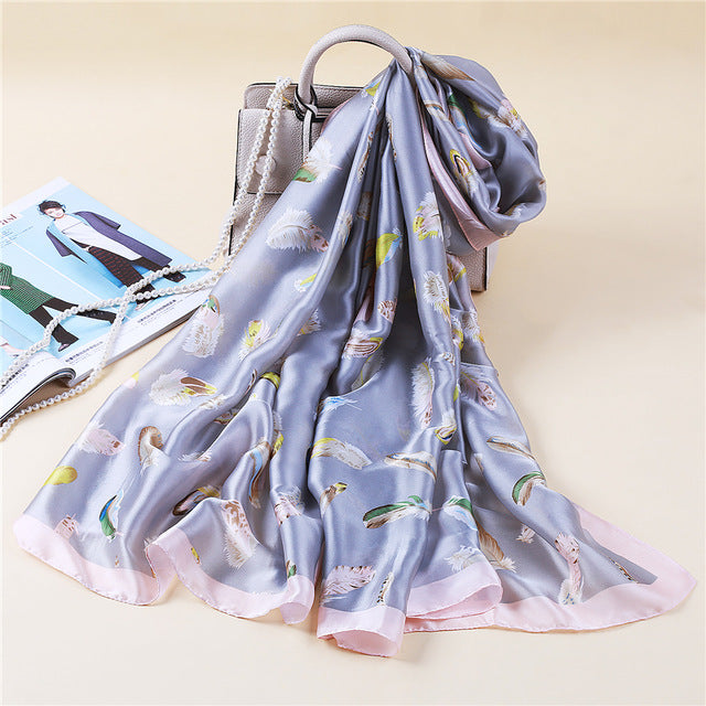Summer Women's Fashion Lady Scarf Silky Scarve