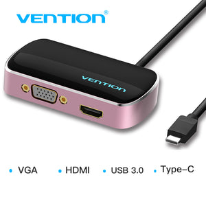 Vention USB Type C Hub to HDMI VGA USB 3.0 Female Converter Adapter