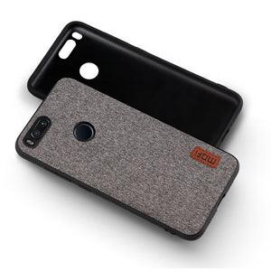 Silicone Fabric Case Business Style Shockproof for Xiaomi Mi A1 MOFi