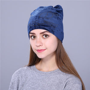 Xthree Cute Kitty Flannelette Autumn Winter Hat