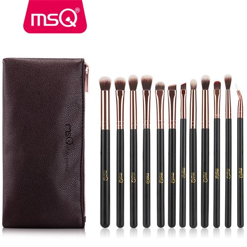 MSQ 12pcs Eyeshadow Makeup Brushes Set Pro Rose Gold Eye Shadow