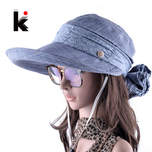 Face Neck Protection Sun Hat Summer Visor Cap KISSBAOBEI