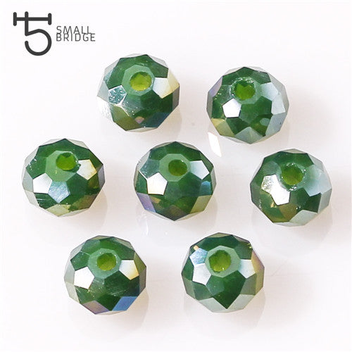 8mm Austria Loose Faceted Rondelle Glass Beads for Jewelry Making