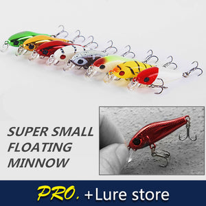 2pcs 4CM 1.A8G Minnow Bait Fishing Lure JYJ