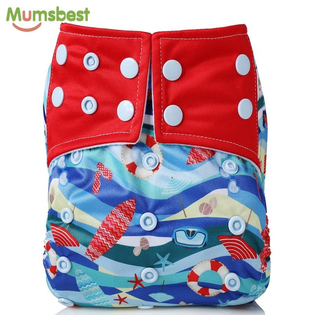 Baby Cloth Diapers Adjustable Cartoon Foxes Cloth Nappy Washable Waterproof