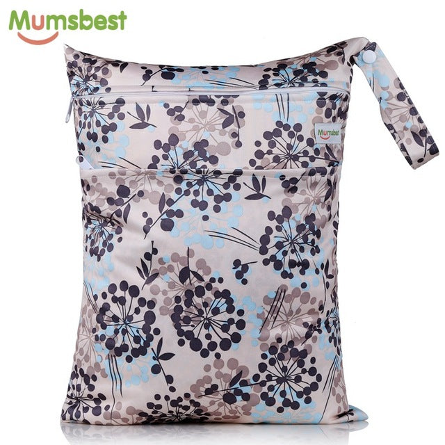 40X30CM Wet Bag Washable Reusable Cloth Diaper Nappies Waterproof