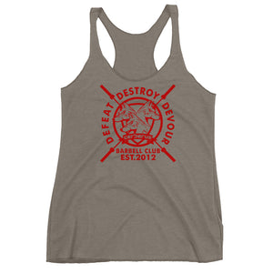 Women's Barbell Club Racerback (Red Logo)