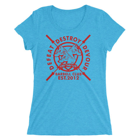 Image of Woman's Barbell Club T (Red Logo)
