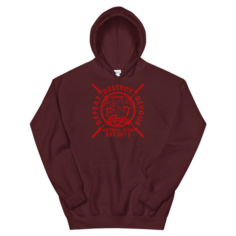 Barbell Club Hoodie (Red Logo)