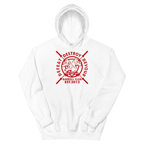 Image of Barbell Club Hoodie (Red Logo)