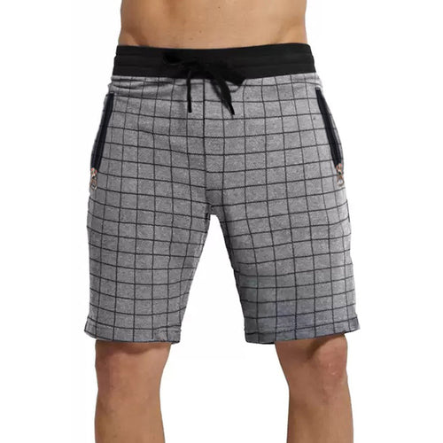 Tripr Checkered Men Grey Regular Shorts with zipper