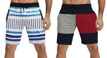 Tripr Striped,Solid Men Multicolor Regular Shorts(PACK OF 2)