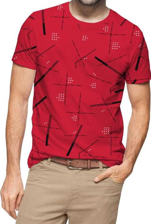 Tripr Printed Men Round Neck Red T-Shirt