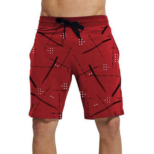 Tripr Printed Men Red Regular Shorts