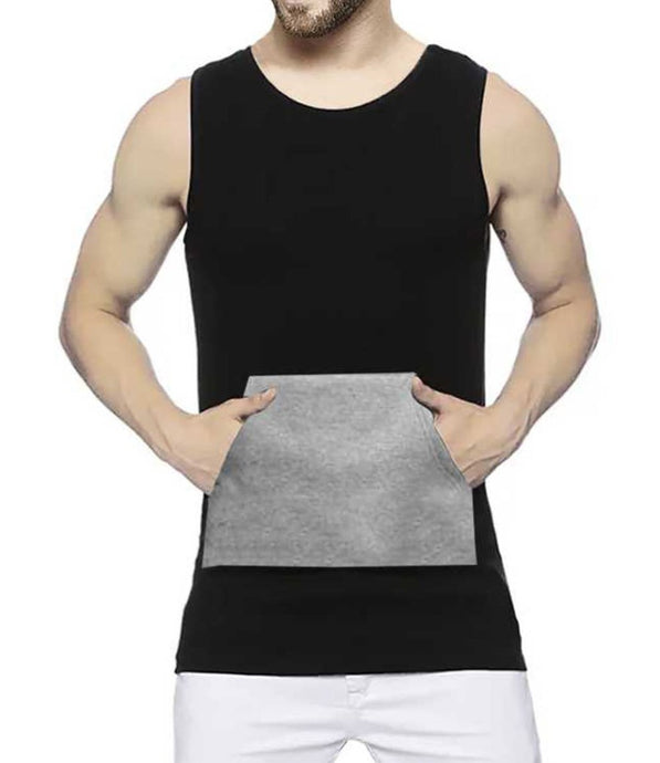 Tripr Men Black Grey Vest