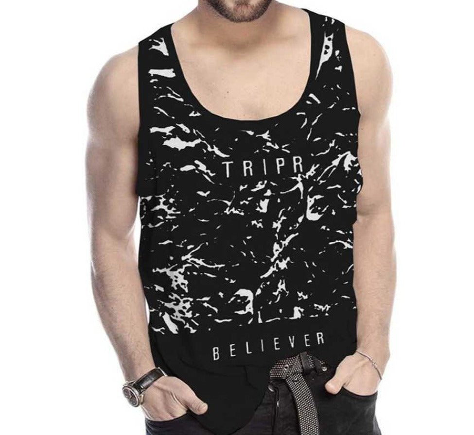 Tripr Men Vest Black