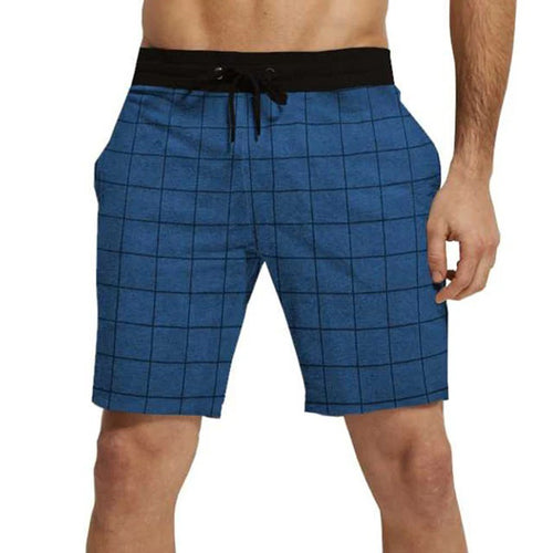 Tripr Checkered Men Blue Regular Shorts