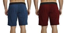 Tripr Checkered Men Navy,Red Black Regular Shorts(PACK OF 2)