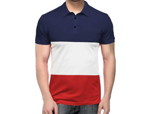 Tripr  Color Block Men Polo Neck Multicolor T-Shirt