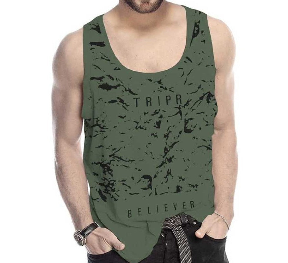 Tripr Men Vest Green