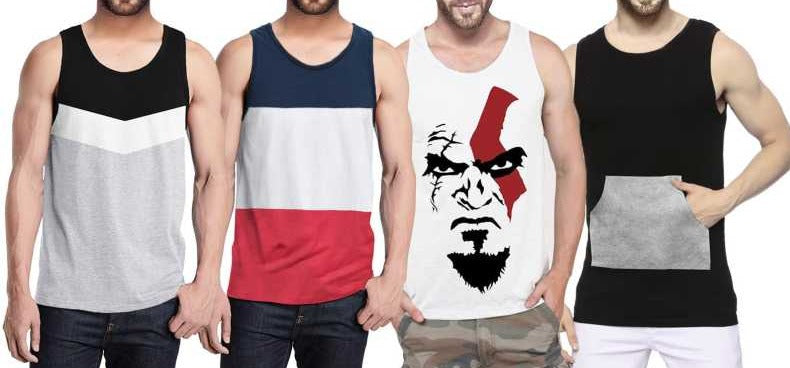 Tripr Men Vest (Pack of 4)