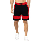 Tripr Color Block Men Red, Black Regular Shorts