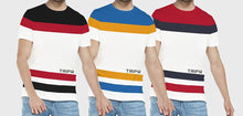 Tripr  Color Block Men Round Neck Multicolor T-Shirt(pack of 3)