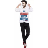 Tripr  Printed Men Hooded Neck White T-Shirt