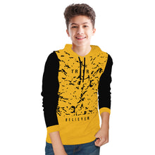 Tripr kids Printed Cotton Blend T Shirt  (Yellow, Pack of 1)