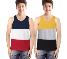 Tripr Vest For Boys Cotton Blend  (Multicolor, Pack of 2)