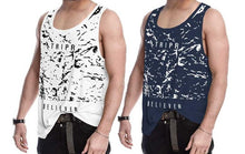 Tripr Men Vest White Dark Blue (Pack of 2)