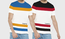 Tripr Color Block Men Round Neck Multicolor T-Shirt (Pack of 2)
