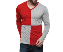 Tripr Color block Men V-neck Multicolor T-Shirt