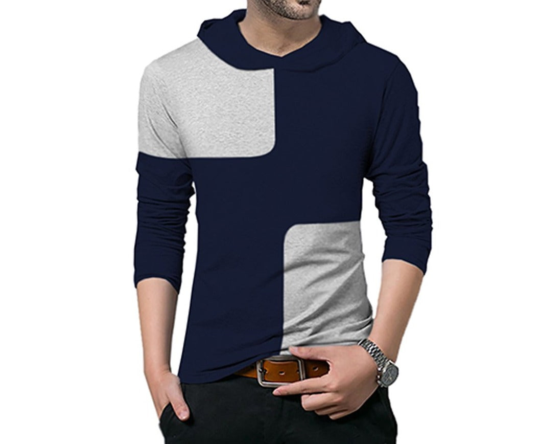 Tripr Color Block Men Hooded Neck Multicolor T-Shirt