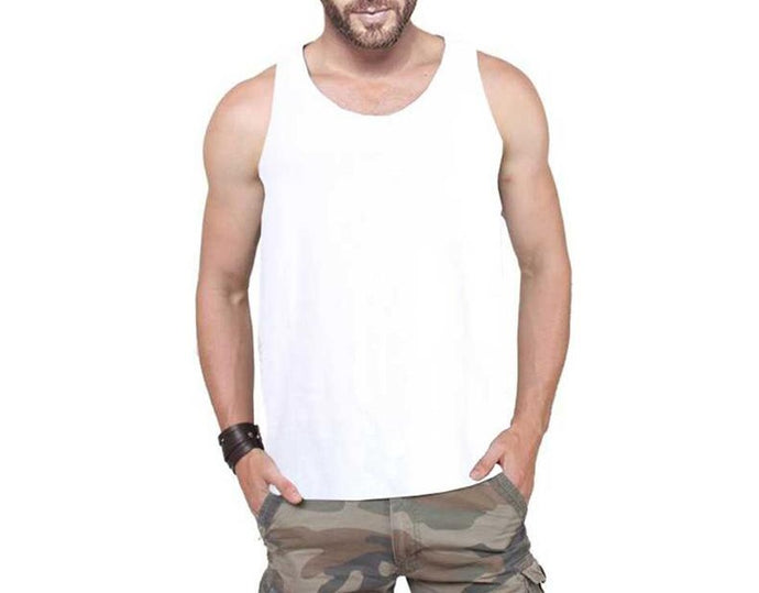 Tripr Men's Tank Top White