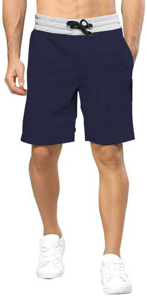 Tripr Solid Men Gray ,Dark Blue Regular Shorts