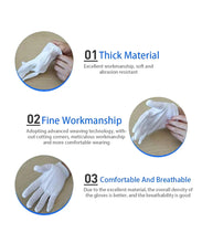 TRIPR REUSABLE COTTON FULL HAND GLOVES BLACK (PACK OF 10 SETS)