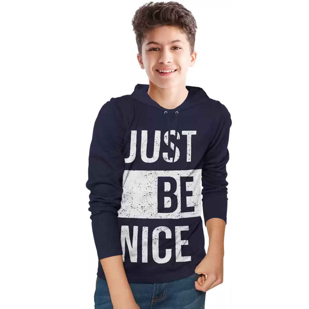 Tripr Boys Printed Pure Cotton T Shirt Dark Blue