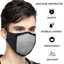 TRIPR REUSABLE COTTON WITH FOAM FACE MASK (PACK OF 10 PIECES) BLACK GREY