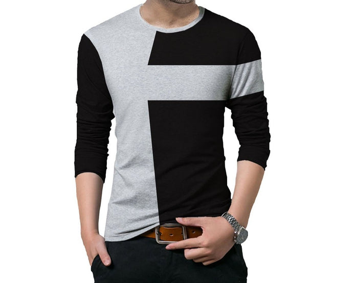 Tripr Color block Men's Round Neck Multicolor T-Shirt