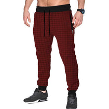 Tripr Checkered Men Red Track Pants with zipper