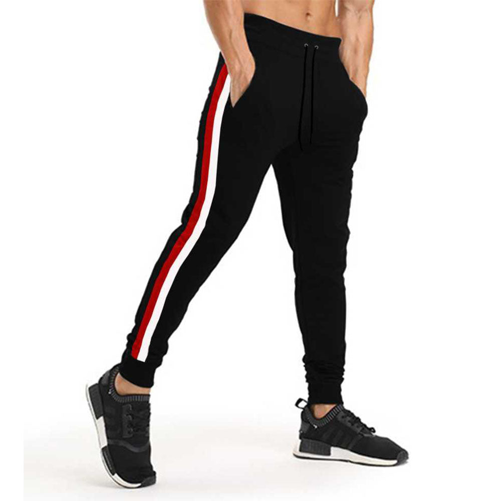 Tripr Striped Men Red, White, Black Track Pants
