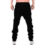 Tripr Solid Men Black Track Pants