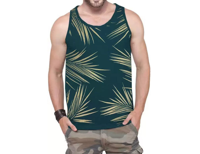 Tripr Printed Men Vest Green