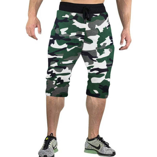 Tripr Camo Printed Men Green,White,Black Three Fourths