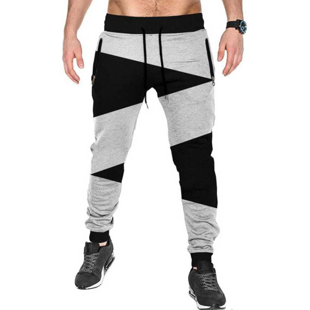 Tripr Color Block Men Black, Grey Track Pants